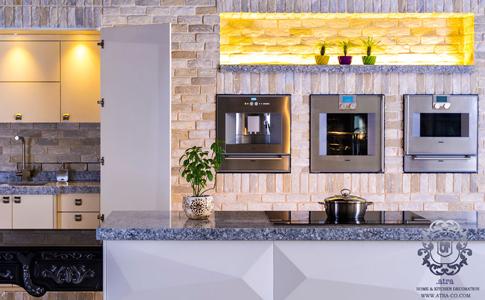 کابینت آشپزخانه مشهد طرح مخفی مدرن لاکر مایا، گروه طراحی دکوراسیون داخلی آترا مشهد