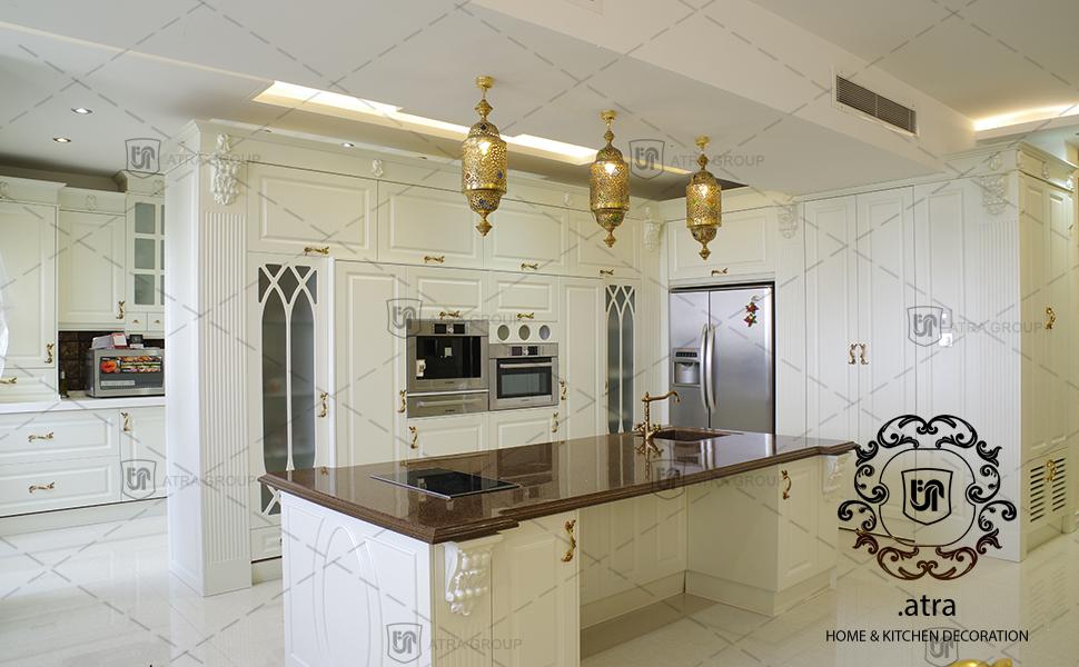 دکوراسیون آشپزخانه و tv مشهد- بلوار نوفل لوشاتو، گروه طراحی دکوراسیون داخلی آترا