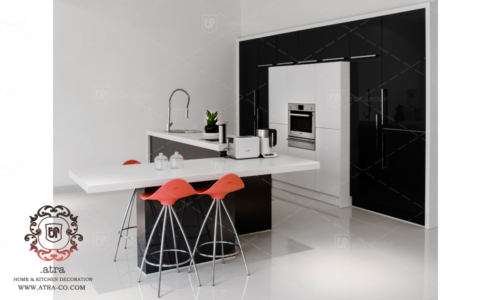 Modern kitchen decoration and gloss cabinets