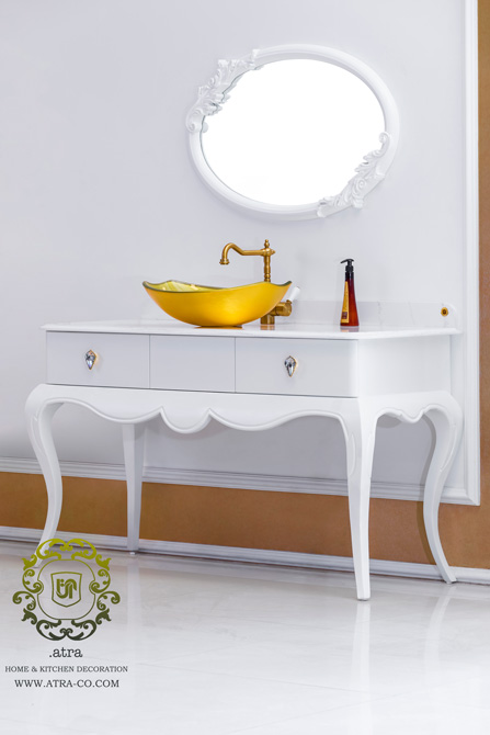 Sink and bathroom decoration made  by wood and lacquer