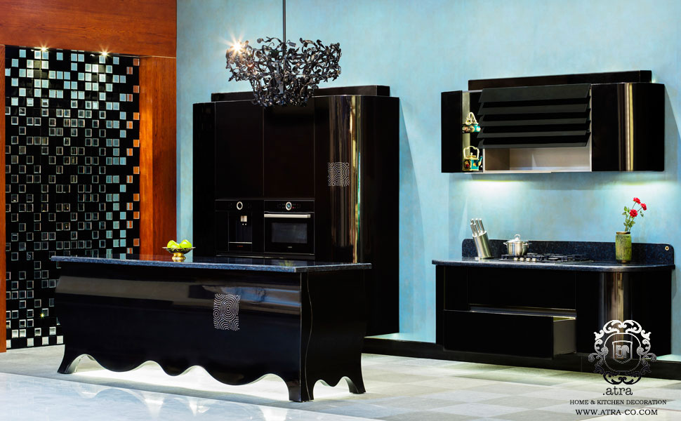 Kitchen cabinets and interior decoration Swarovski model using precious stones