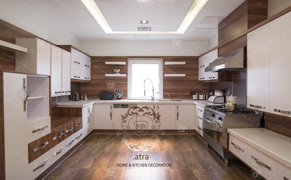 Kitchen decoration and TV Set, Fakoori blvd, Mashhad, Atra interior design group