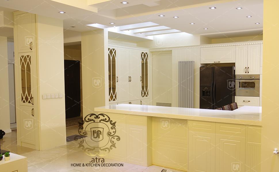 دکوراسیون داخلی آشپزخانه، پذیرایی و TV Set، گروه طراحی دکوراسیون داخلی آترا