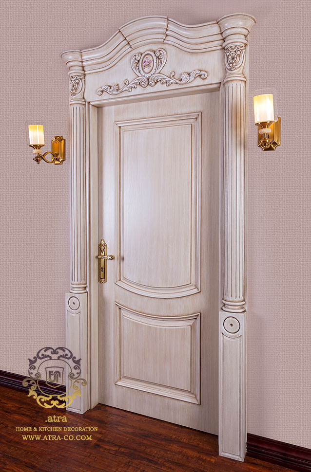 Entrance apartment door by wood, Victoria model