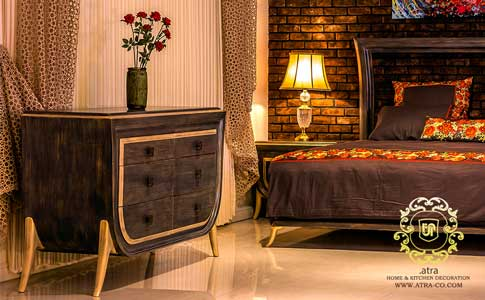 Wooden bed set