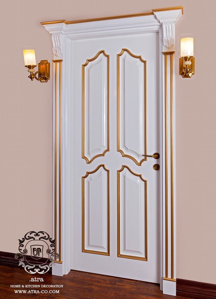 Entrance doors and doors of rooms and service areas by wood