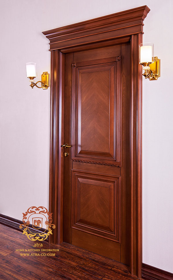 Classic wood  doors with elm veneer