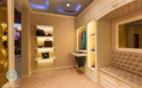اتاق کمد و تعویض لباس کلوزت، طراحی و ساخت توسط گروه طراحی دکوراسیون داخلی آترا، مشهد