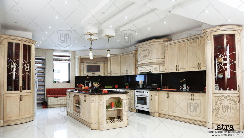 پروژه دکوراسیون داخلی خانه مشهد ، گروه طراحی دکوراسیون داخلی آترا ، پروژه کابینت چوب مشهد