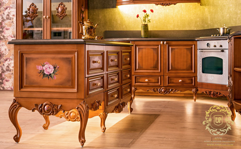Classic wooden kitchen cabinets, Elizabeth Model