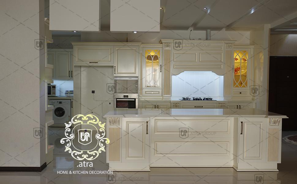 دکوراسیون کامل آشپزخانه و مطبخ، مشهد- بلوار سید رضی، طراحی و ساخت توسط گروه طراحی دکوراسیون داخلی آترا، مشهد