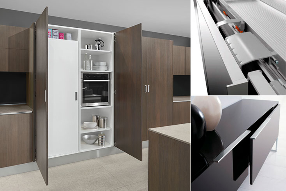 Salice produces hinges, drawer rails and lift systems , Atra interior design group
